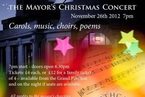 Poster Design for Carol Concert at the Grand Pavilion, Porthcawl
