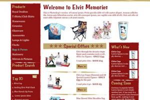 Website Design for Elvis Memorabilia Site