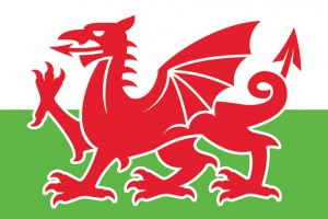 Simplified Welsh Dragon Logo Free Vector